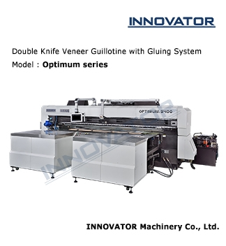 Double Knife Veneer Guillotine with Gluing System